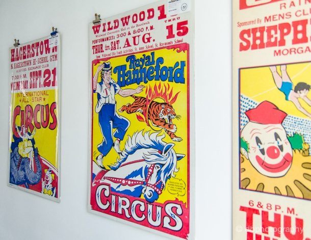 Vintage circus posters from Delicious Industries