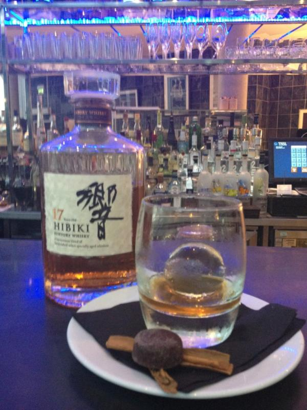 Suntory whisky featuring an AMAZING traditional Japanese ice ball!