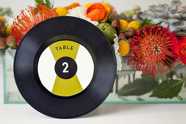 Vinyl table numbers