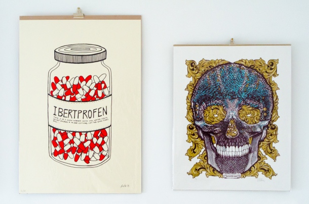 'Ibertprofen' by Bert and 'Feather Skull' by Curly Mark