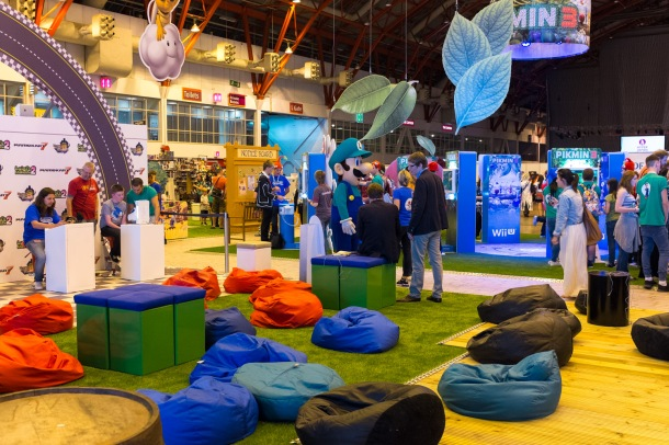 Perfect for gamers - the Nintendo chill out zone at Hyper Japan 2013