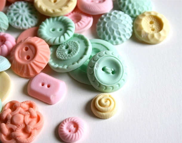 Pastel Peppermint Candy Buttons